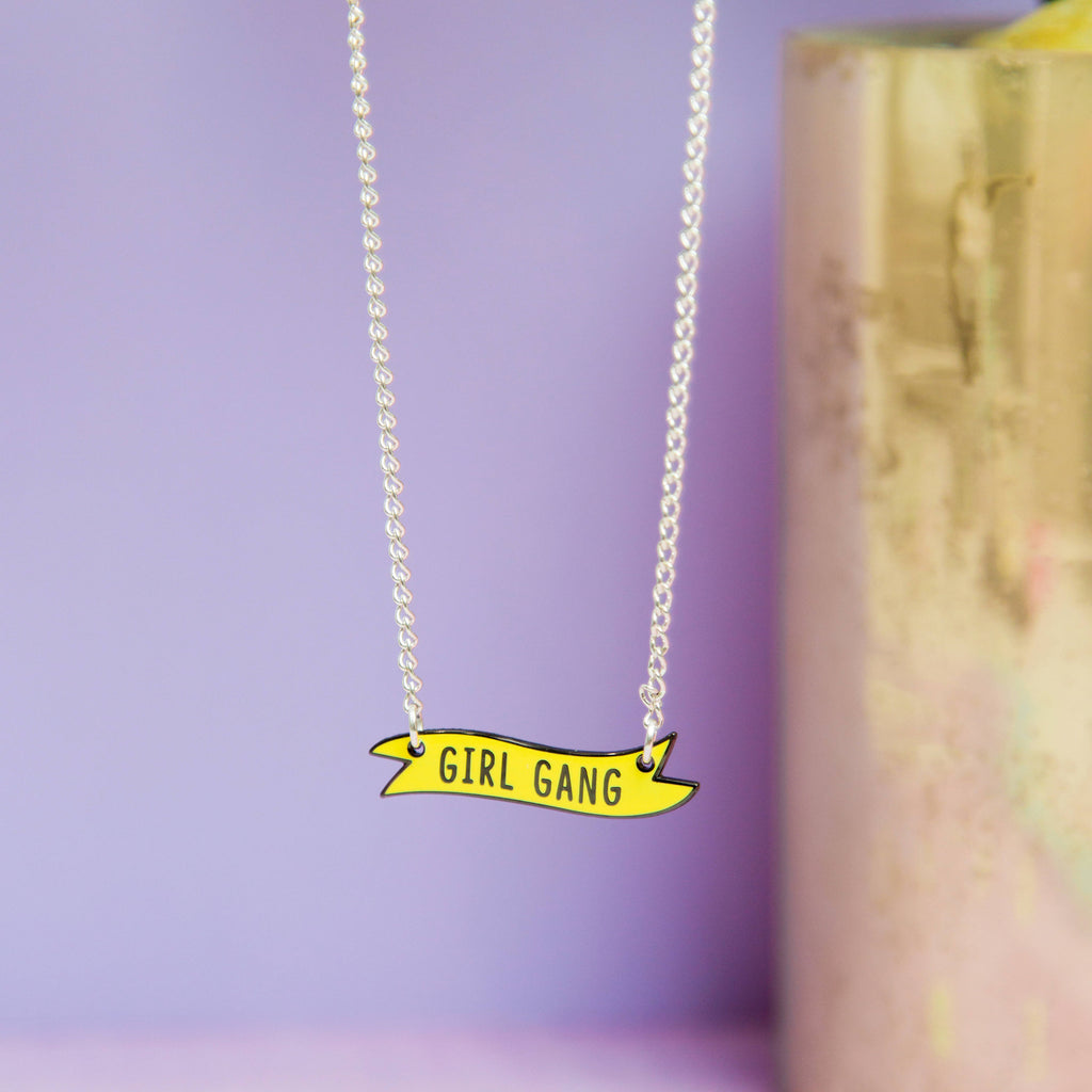Girl Gang Banner Necklace - House Of Wonderland