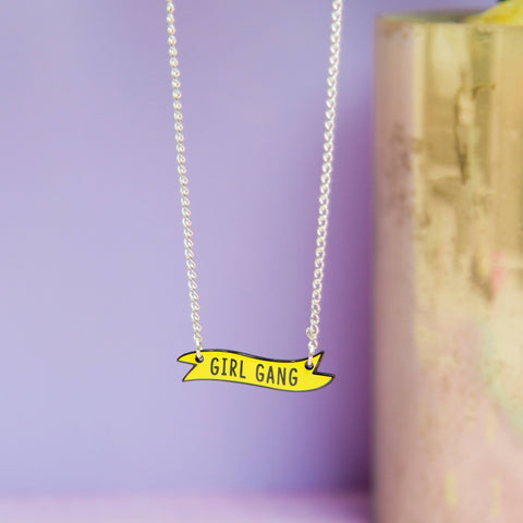 Introvert Banner Necklace