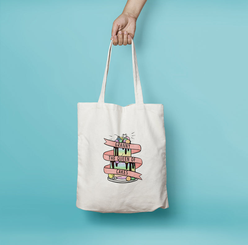 Personalised Cake Queen Tote Bag - House Of Wonderland, HOW