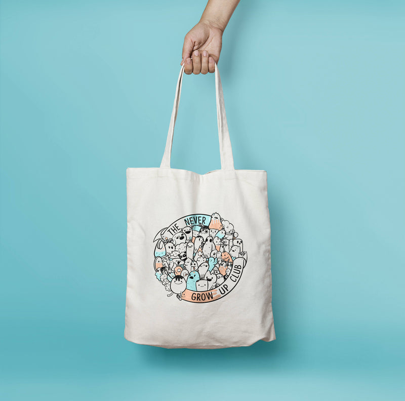 Never Grow Up Club Tote Bag - House Of Wonderland, HOW