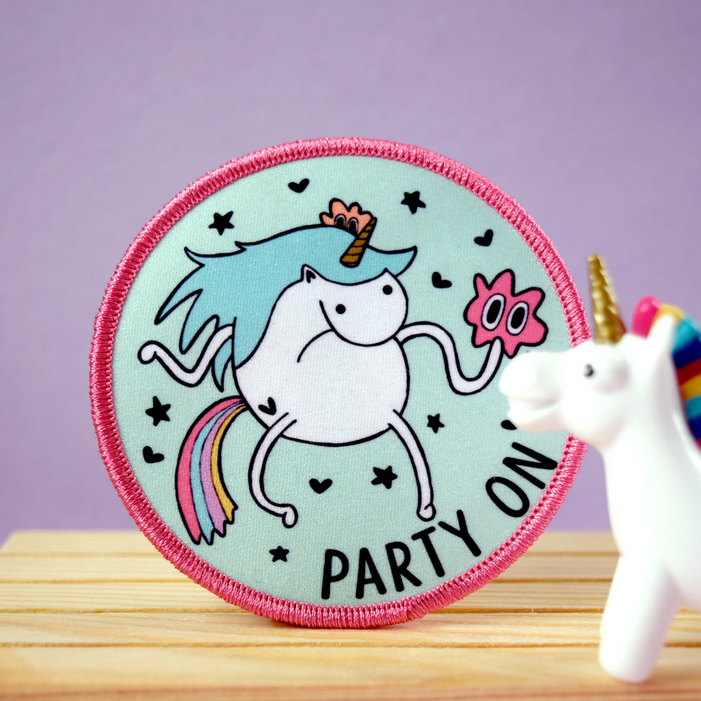 Party On Unicorn Iron on Patch - House Of Wonderland