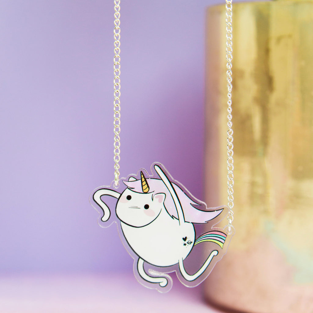 Flying Unicorn Necklace - House Of Wonderland, HOW