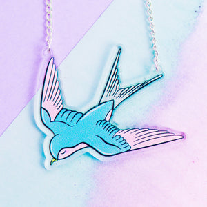 Swallow Bird Necklace - House Of Wonderland, HOW