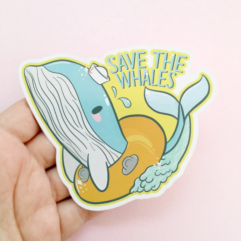 Save The Whales Sticker - House Of Wonderland, HOW