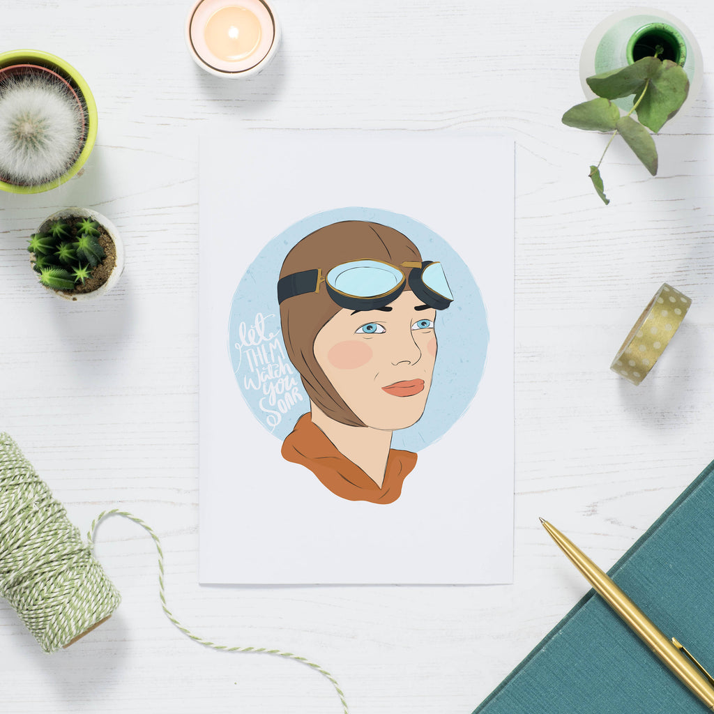 Amelia Earhart Print - House Of Wonderland