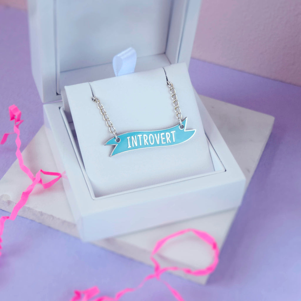 Introvert Banner Necklace - House Of Wonderland