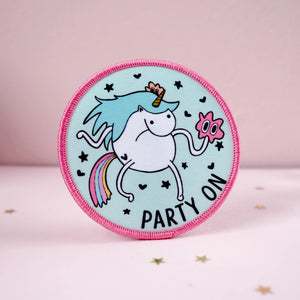 Party On Unicorn Iron on Patch - House Of Wonderland, HOW
