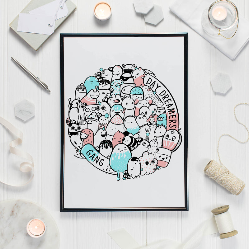 Day Dreamers Gang Print - House Of Wonderland, HOW