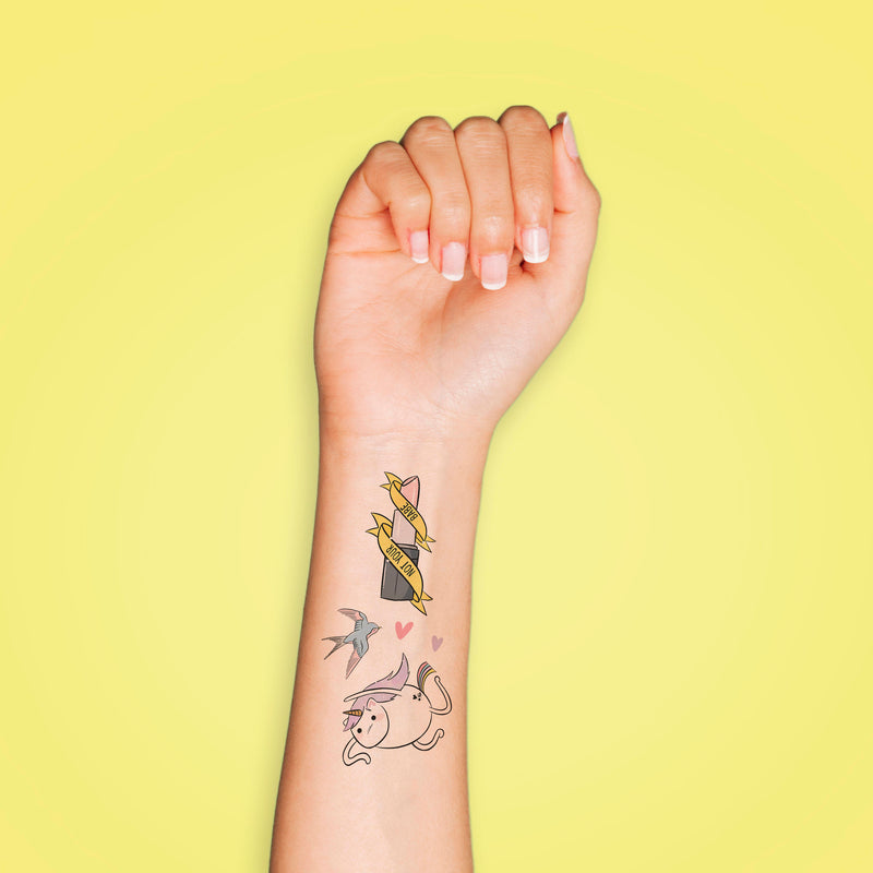 Unicorn Mix Temporary Tattoos - House Of Wonderland, HOW