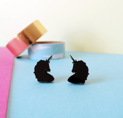Black Dog Earrings