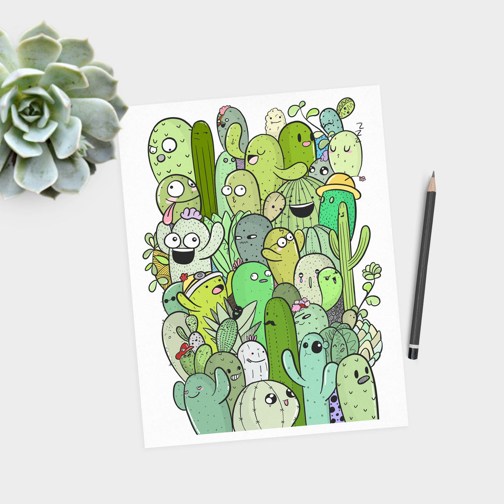 Cactus Print - House Of Wonderland, HOW