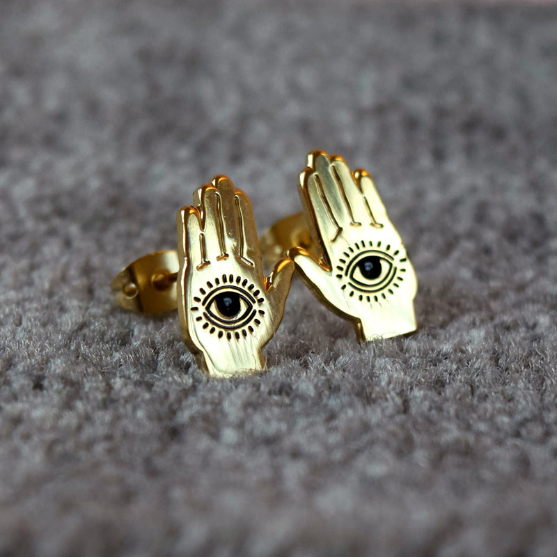 Hamsa Hand Earrings - House Of Wonderland, HOW