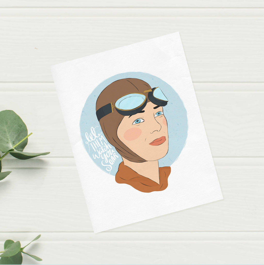Amelia Earhart Print - House Of Wonderland, HOW