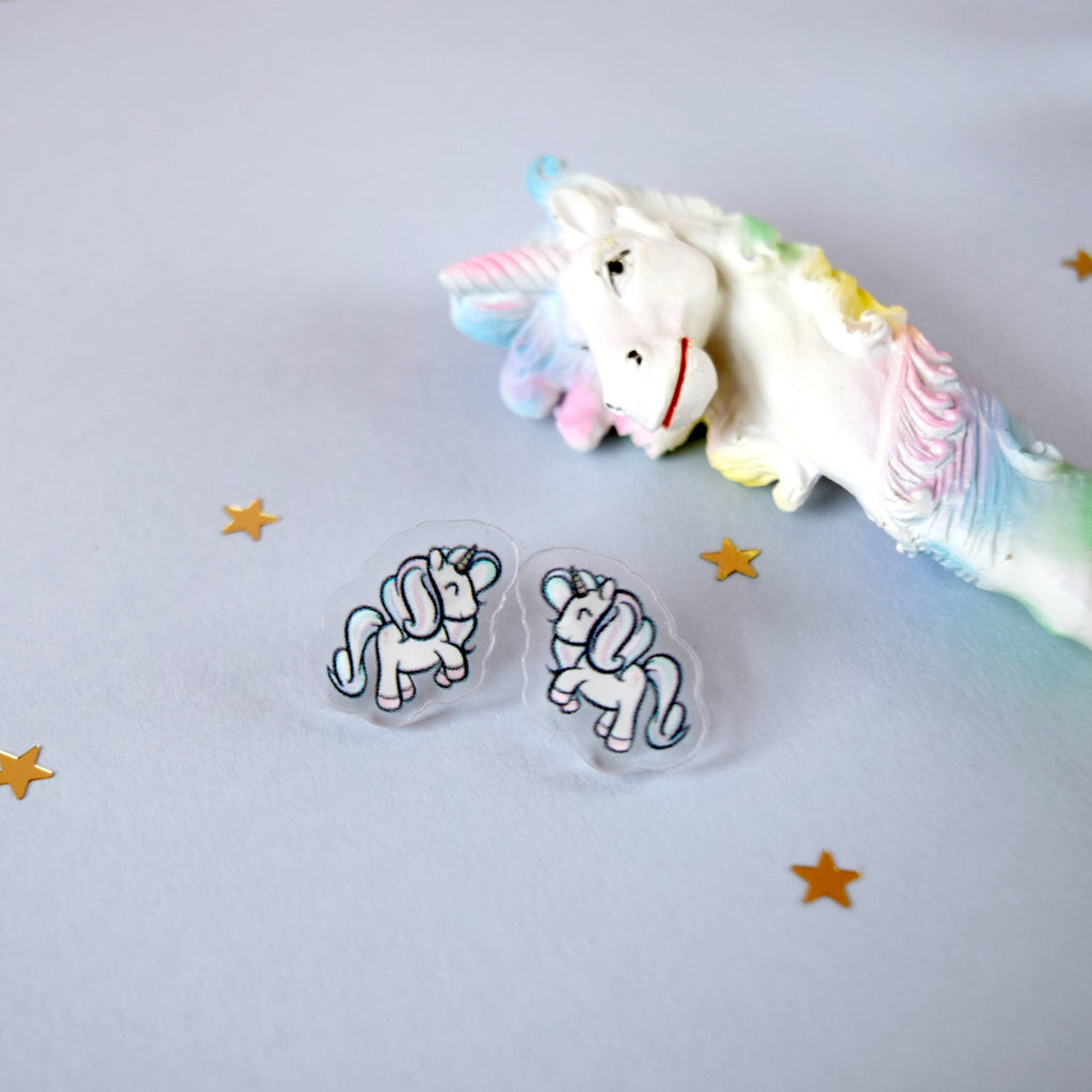 Magical Unicorn Earrings - House Of Wonderland, HOW
