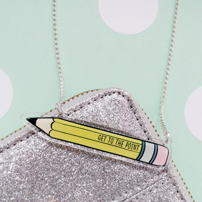 To The Point Pencil Necklace - House Of Wonderland