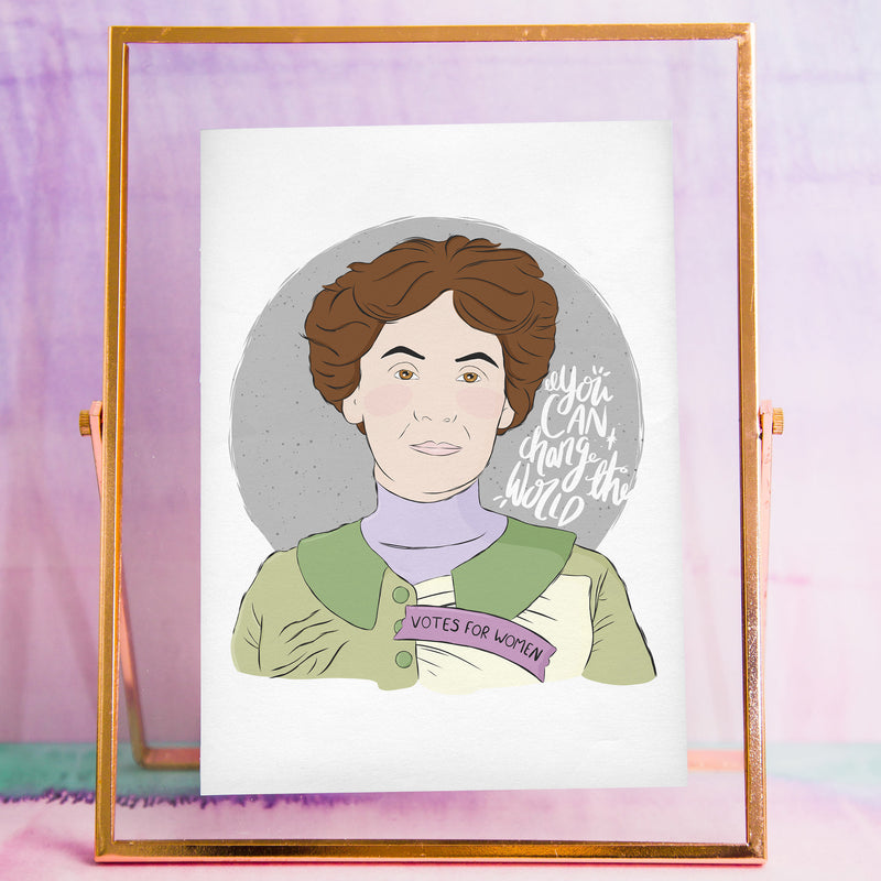 Emmeline Pankhurst Print - House Of Wonderland, HOW