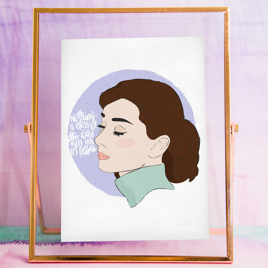 Audrey Hepburn Print - House Of Wonderland, HOW