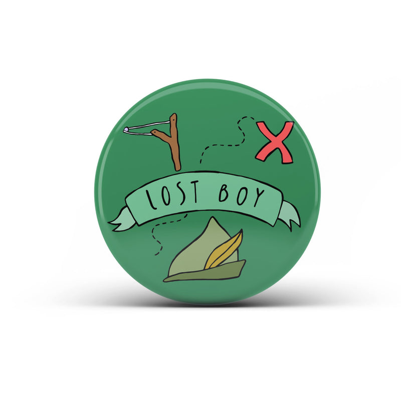 Lost Boy Large Badge - House Of Wonderland