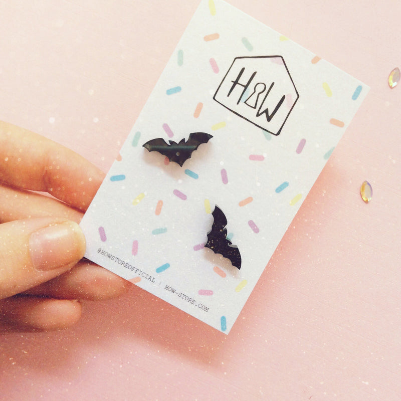 Bat Earrings - House Of Wonderland