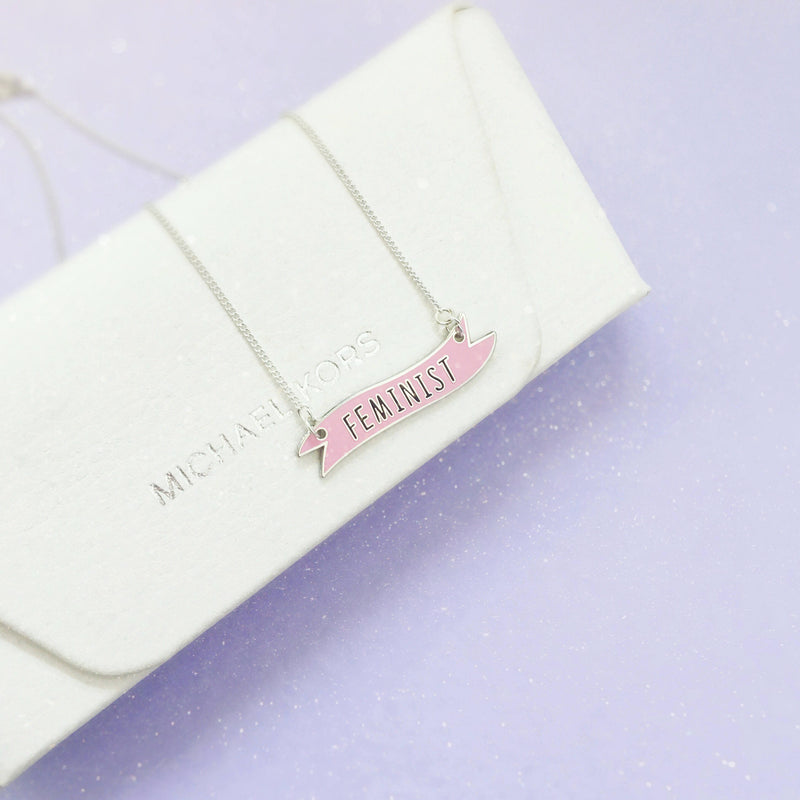 Feminist Banner Necklace - House Of Wonderland