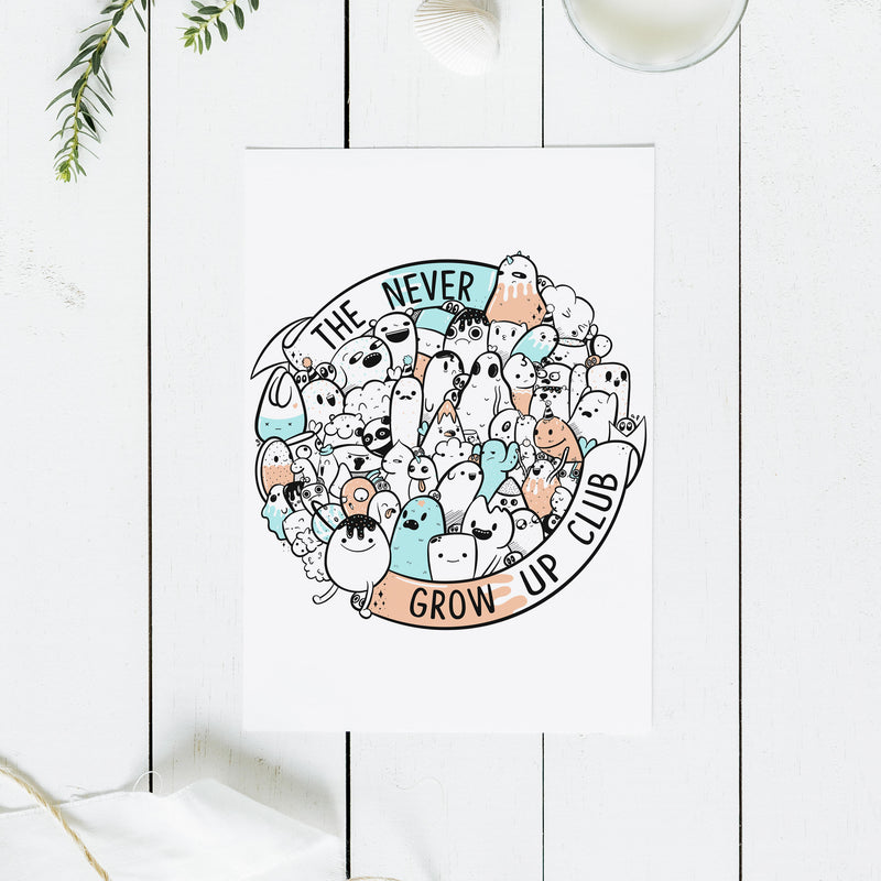 Never Grow Up Club Print - House Of Wonderland, HOW