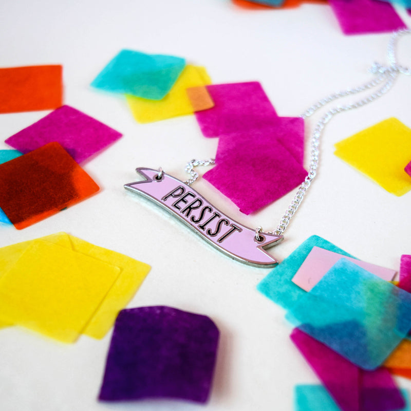 Persist Banner Necklace - House Of Wonderland, HOW