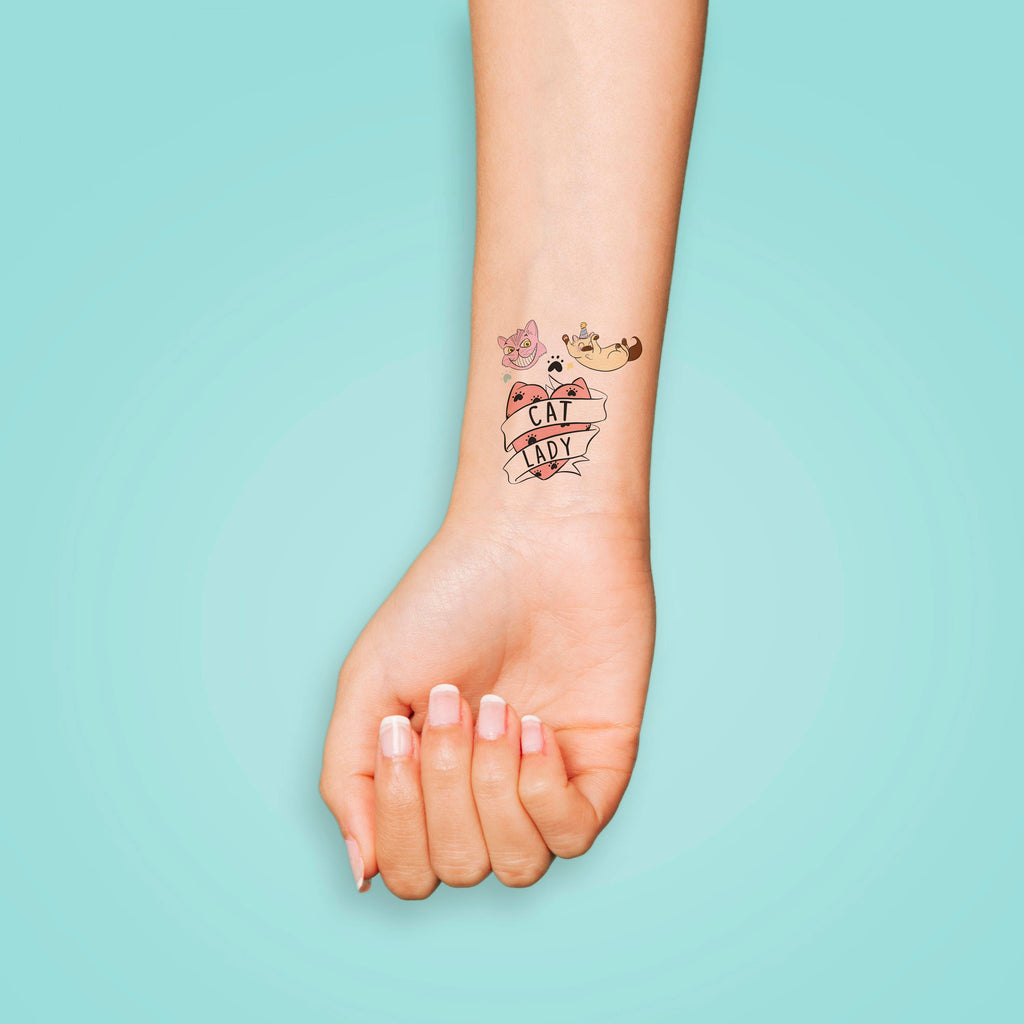 Cat Lady Temporary Tattoos - House Of Wonderland, HOW