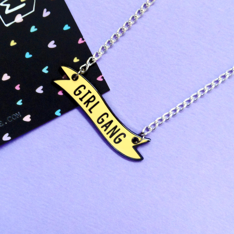 Girl Gang Banner Necklace - House Of Wonderland, HOW