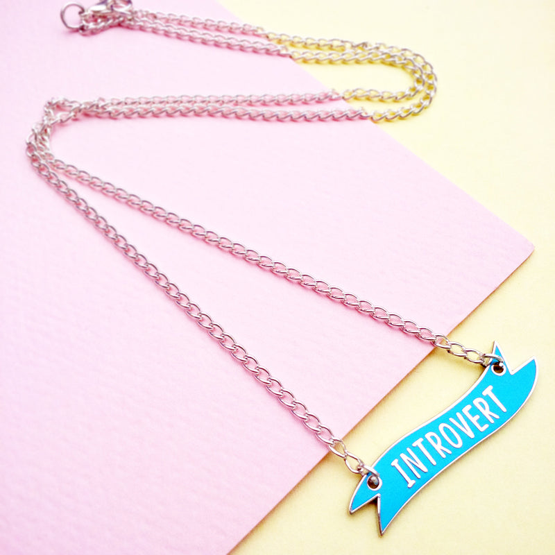 Introvert Banner Necklace - House Of Wonderland, HOW