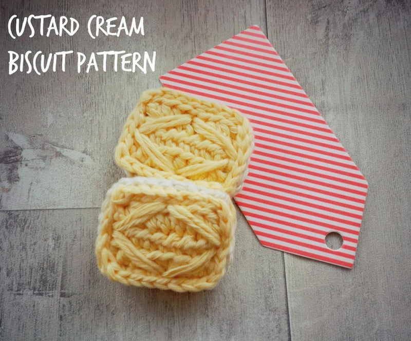 Custard Biscuit Crochet Pattern - House Of Wonderland