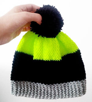 Colourblock Hat Knitting Pattern - House Of Wonderland, HOW