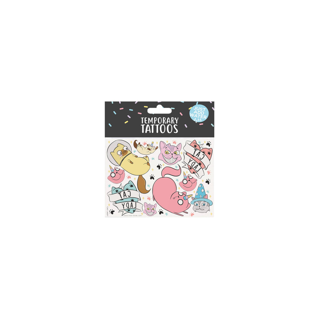 Cat Lady Temporary Tattoos - House Of Wonderland