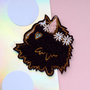 Dinah Cat Iron-On Patch - House Of Wonderland, HOW