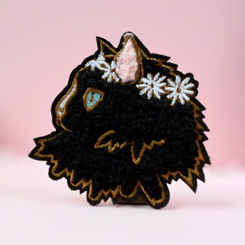 Cat Lady Large Badge