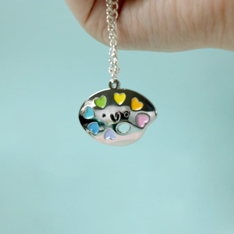 Paint Palette Necklace - House Of Wonderland, HOW