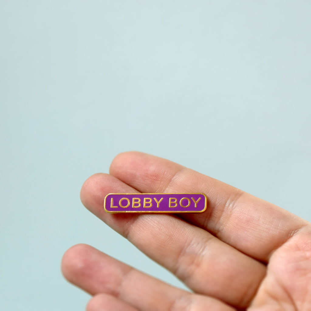 Lobby Boy Enamel Pin - House Of Wonderland, HOW