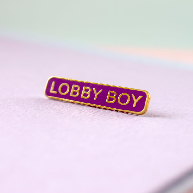 Lobby Boy Enamel Pin - House Of Wonderland