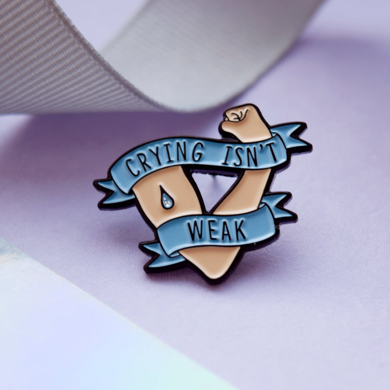 Crying Isn't Weak Enamel Pin - House Of Wonderland