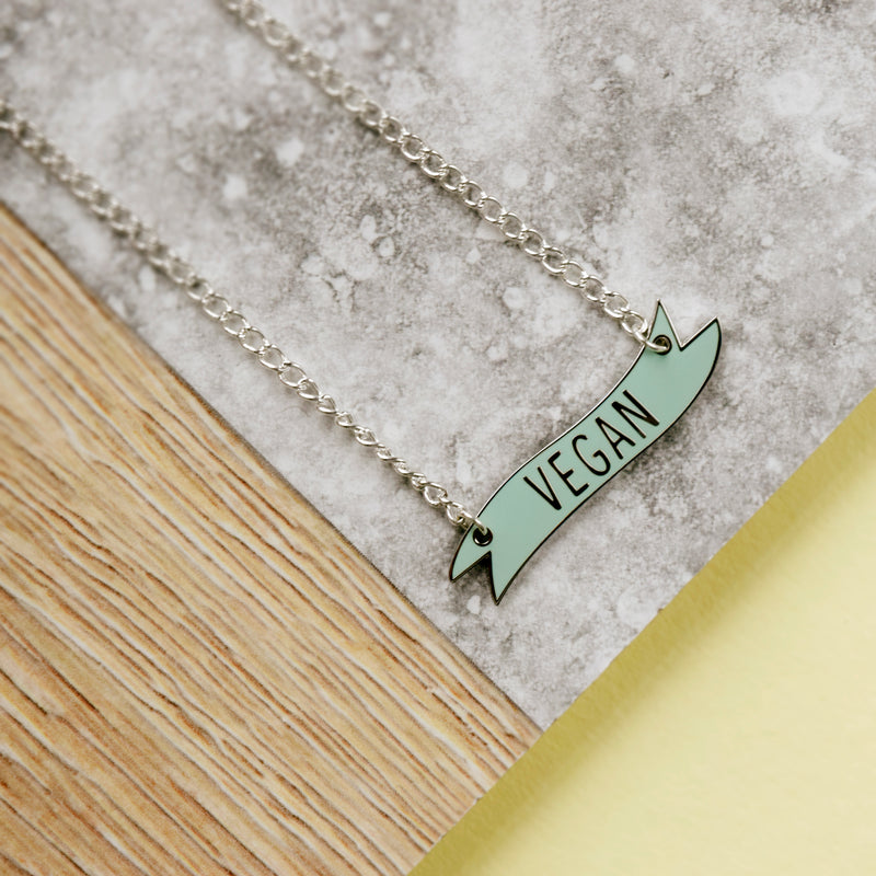 Vegan Banner Necklace - House Of Wonderland, HOW