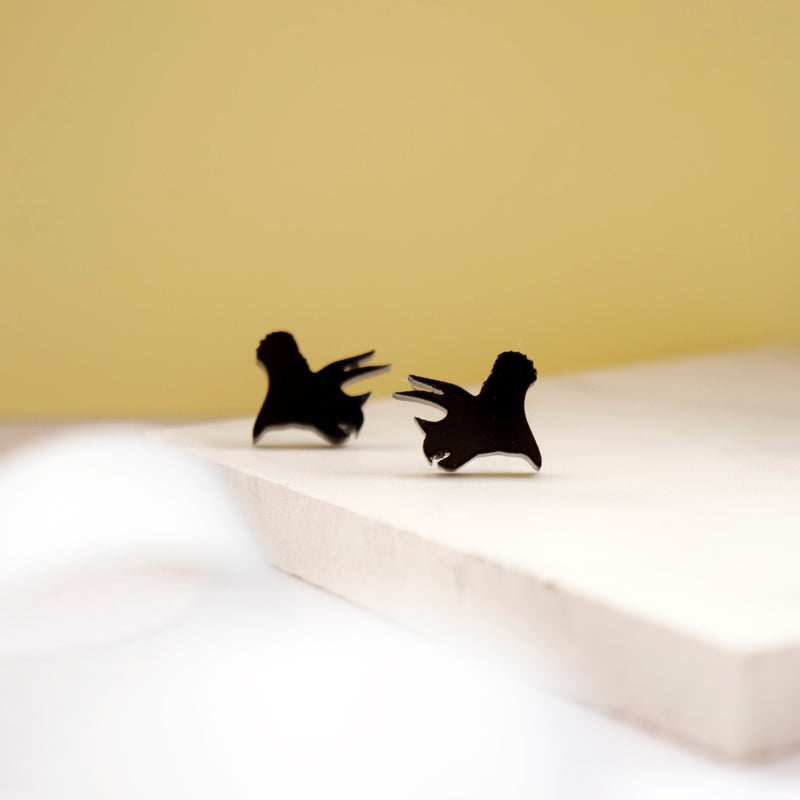 Black Dinosaur Earrings - House Of Wonderland