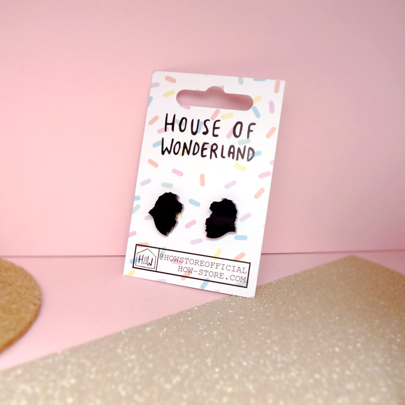 Black Lion Earrings - House Of Wonderland, HOW