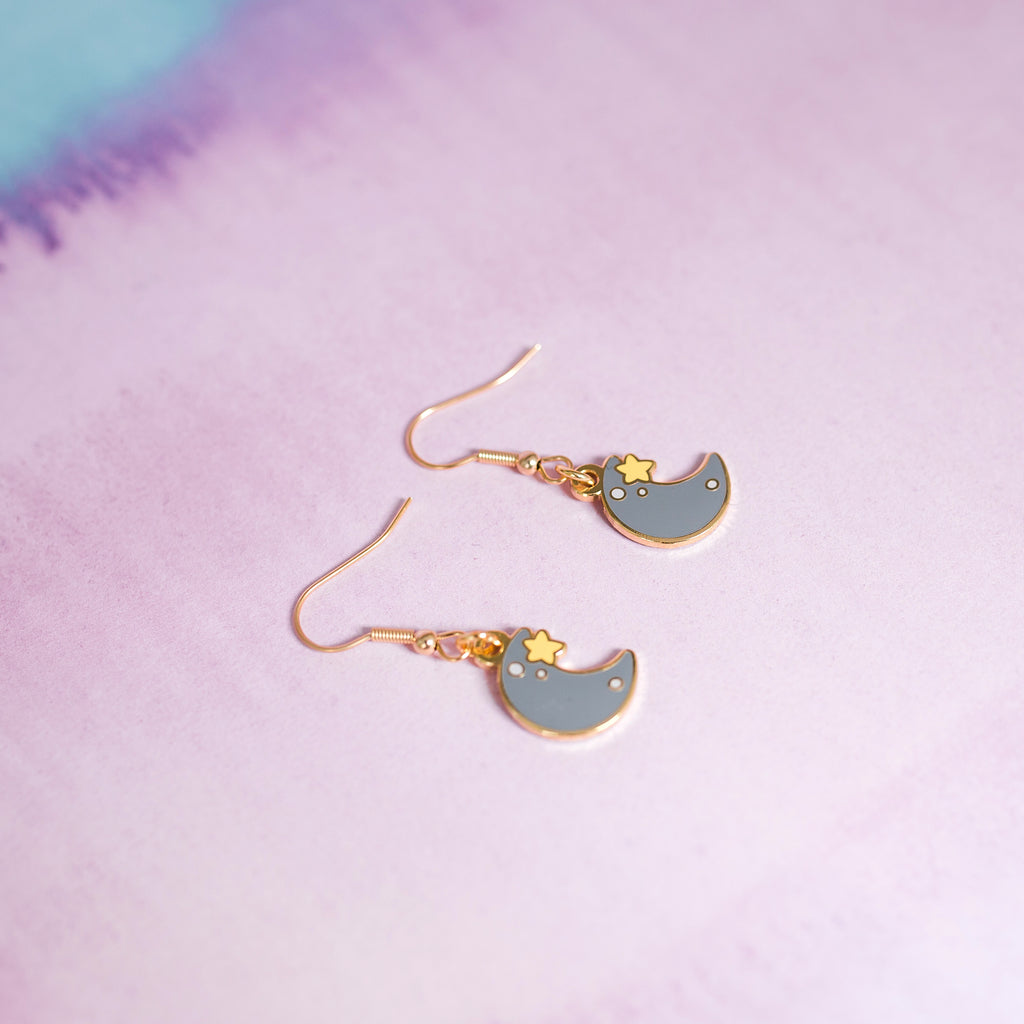 Moon & Star Earrings - House Of Wonderland, HOW