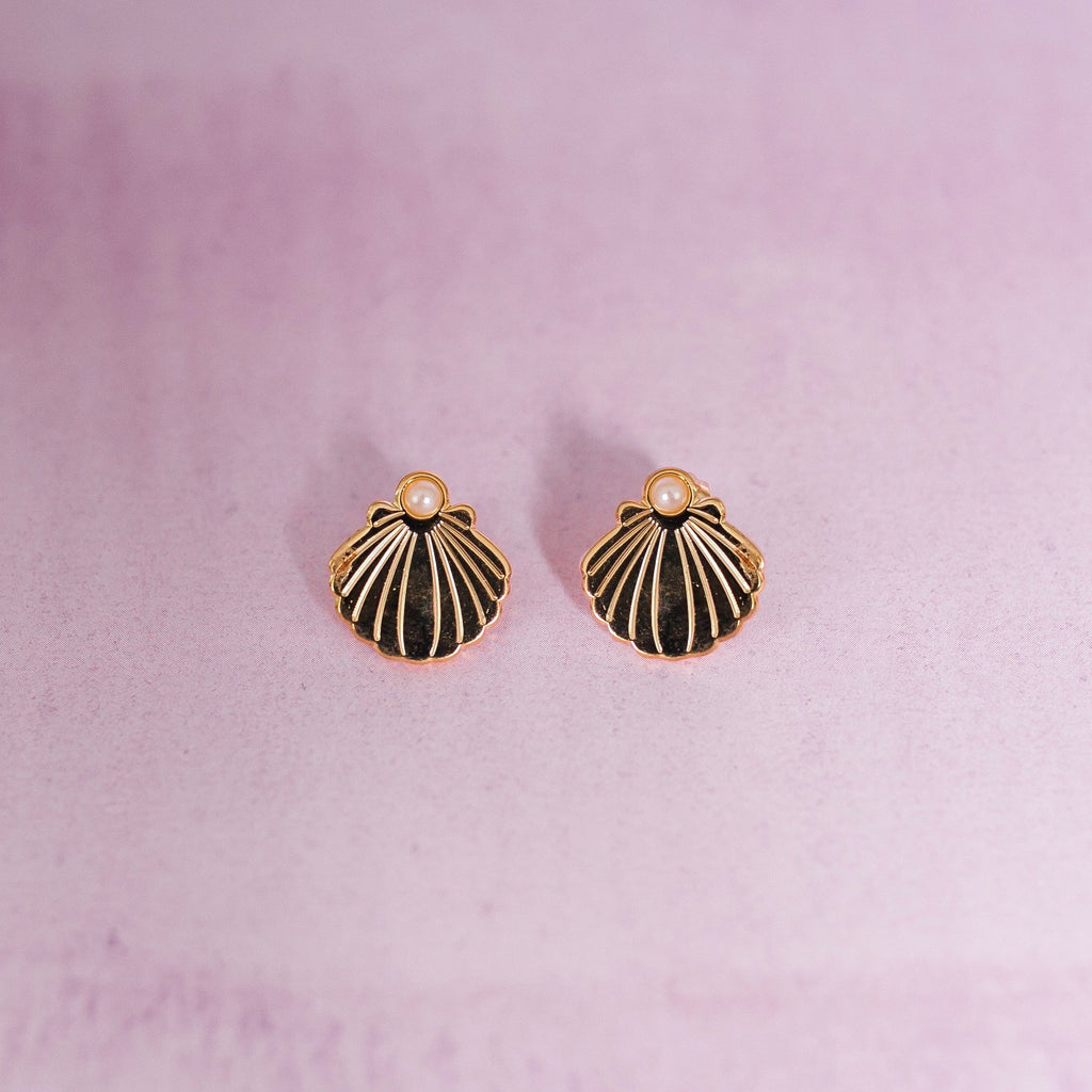 Shell & Pearl Earrings - House Of Wonderland, HOW