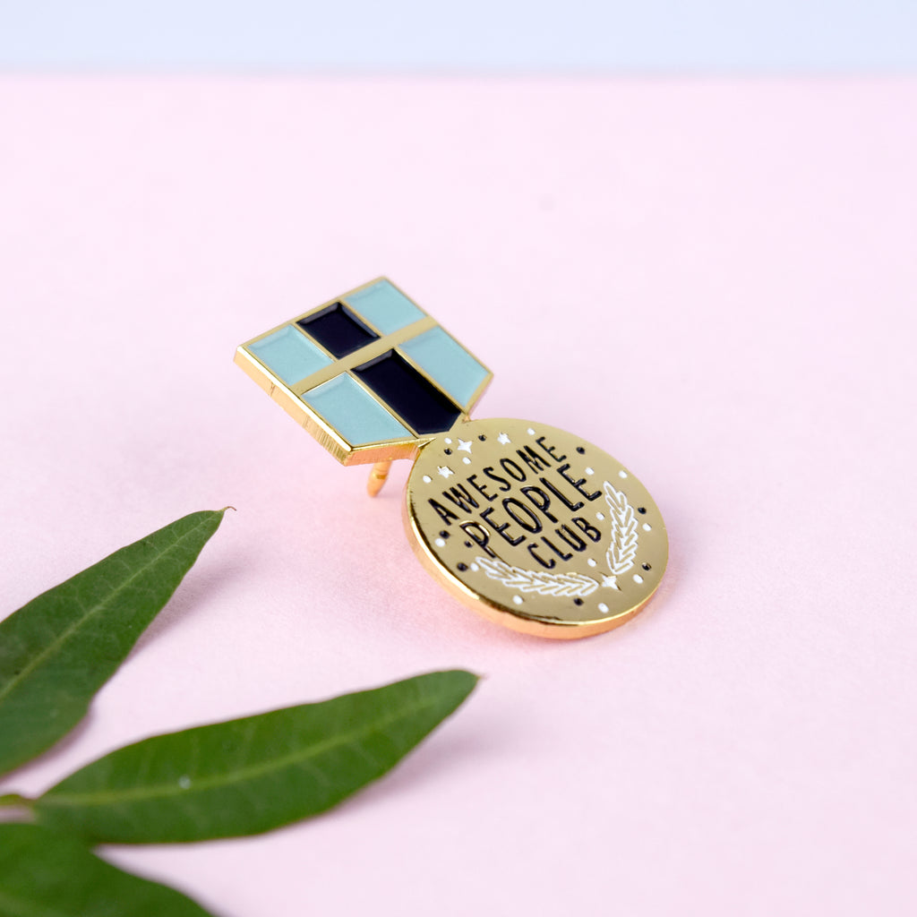 Awesome People Club Enamel Pin - House Of Wonderland, HOW