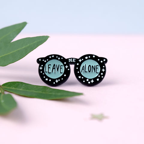 Luna Witch Glasses Enamel Pin