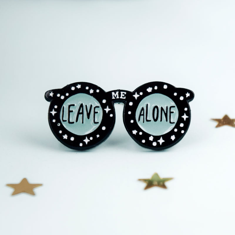 Leave Me Alone Enamel Pin - House Of Wonderland, HOW