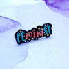 Mini Feminist Enamel Pin - House Of Wonderland, HOW