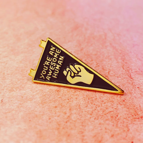 Weirdos Unite Flag Enamel Pin