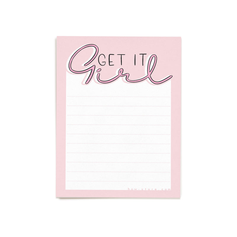 Set of 2 Printable Get It Girl Notepaper - House Of Wonderland, HOW