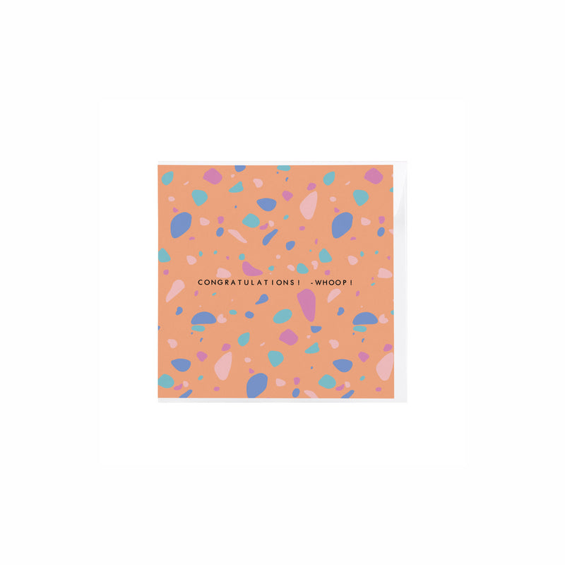 Terrazzo Congratulations Whoop Card - House Of Wonderland, HOW